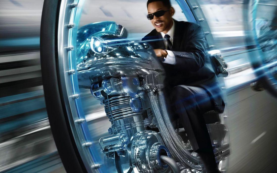 Men-in-Black Will-Smith movies entertainment sci-fi futuristic vehicles wallpaper