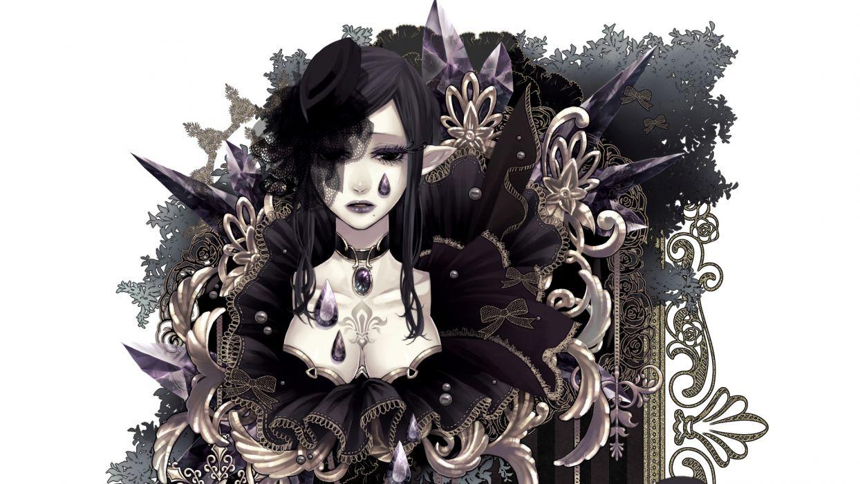 pixiv_net sword-regalia Pixiv-Fantasia Fantasia Pixiv regalia anime women females girls elves fantasy gothic artistic sexy sensual wallpaper
