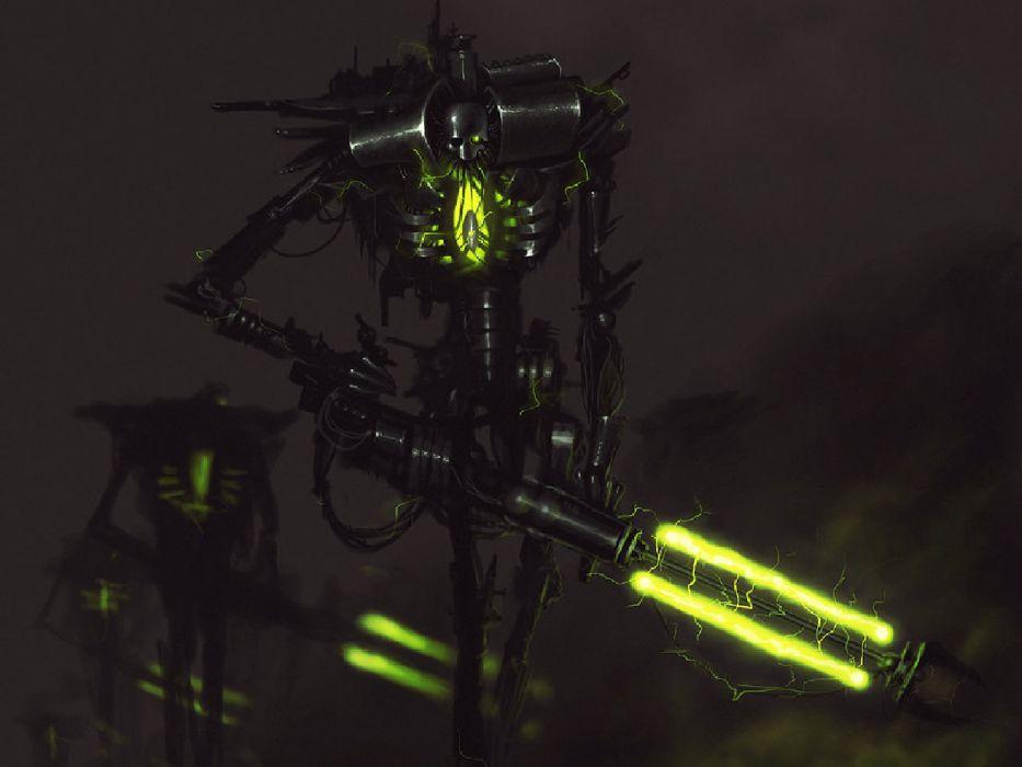 scifi robot wallpaper