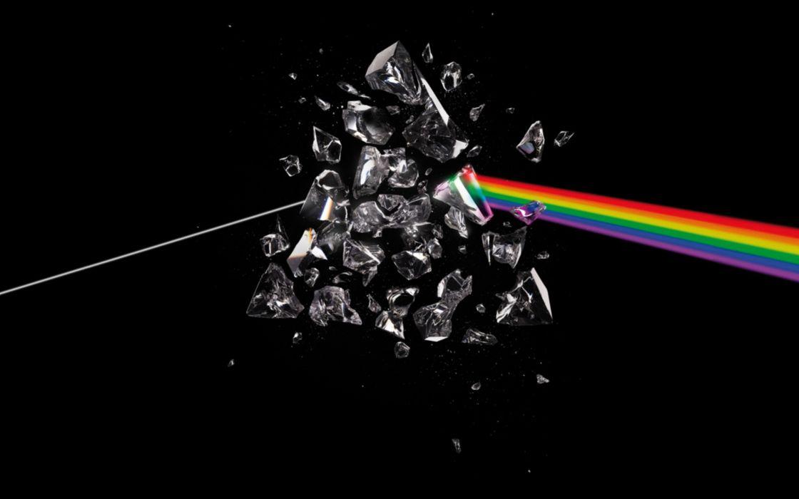Pink floyd prism rainbows wallpaper