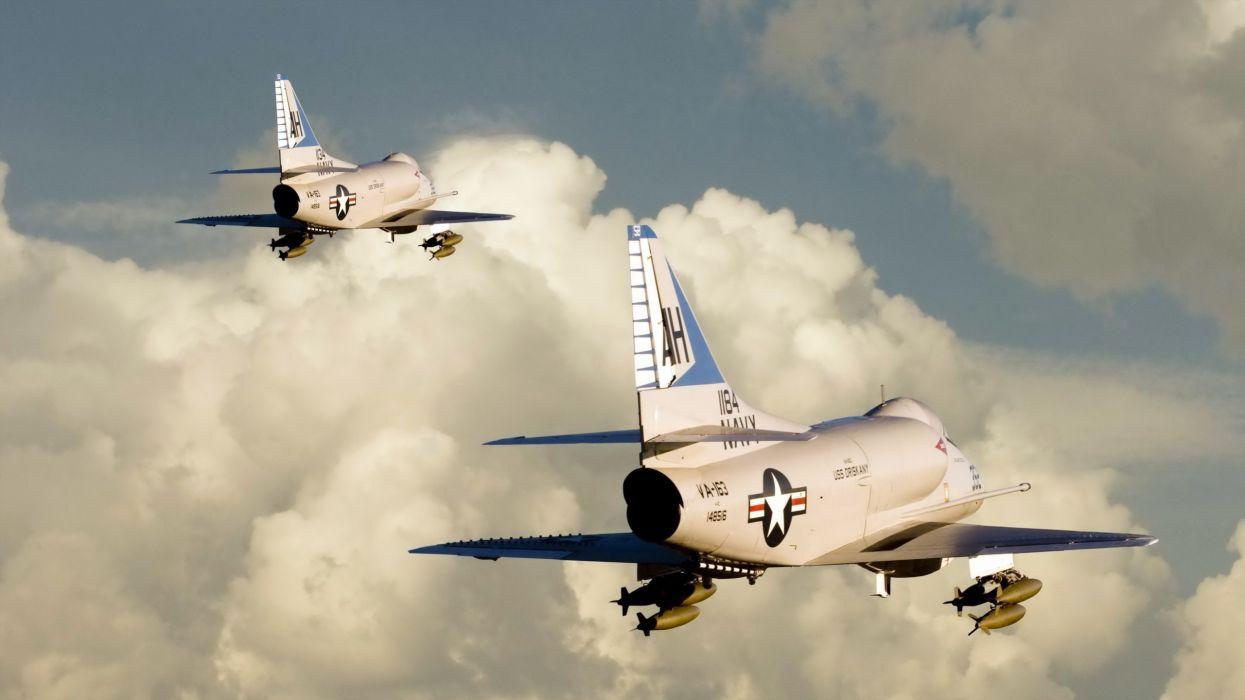 Aircraft jet engine skies wallpaper