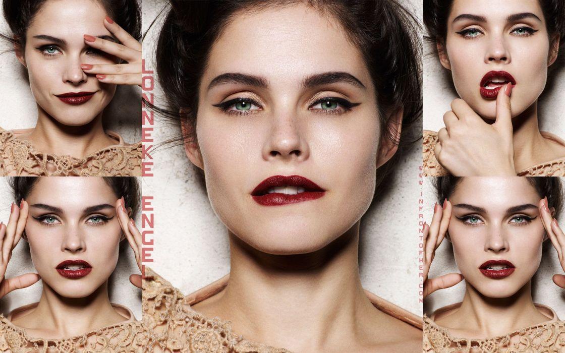 Women close-up faces wallpaper