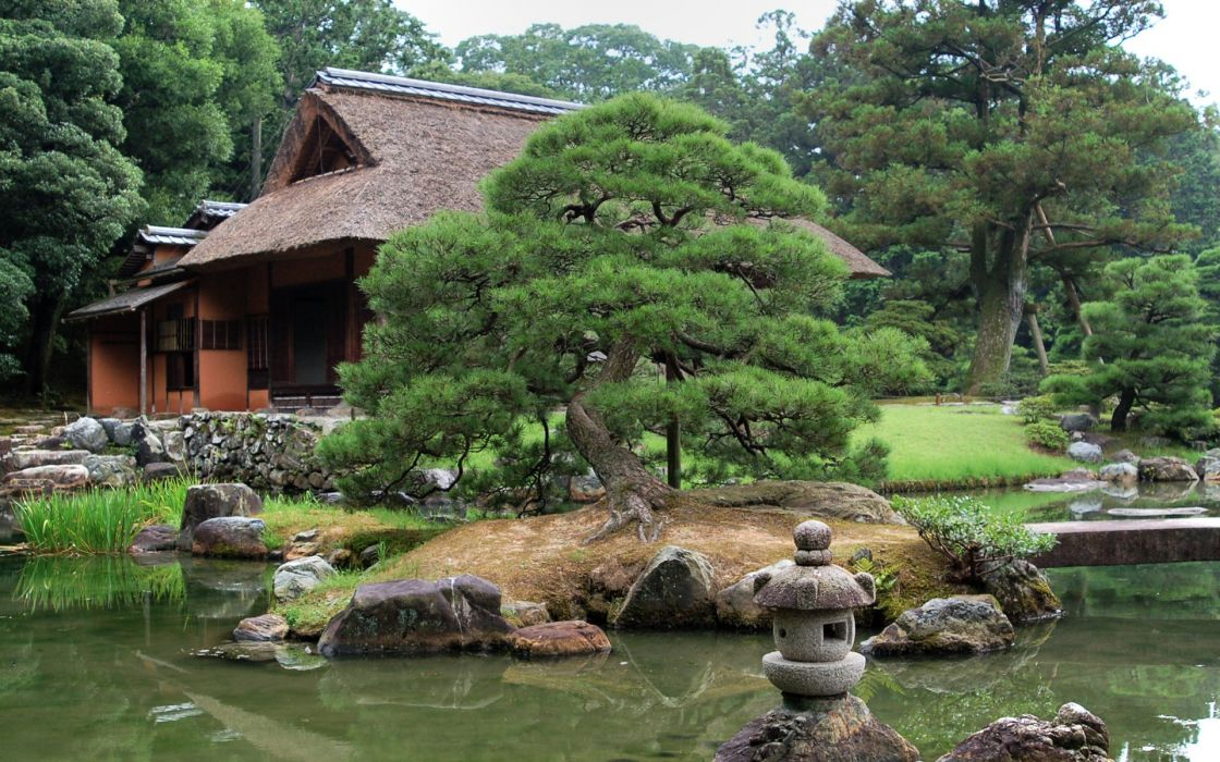 Japan trees garden wallpaper