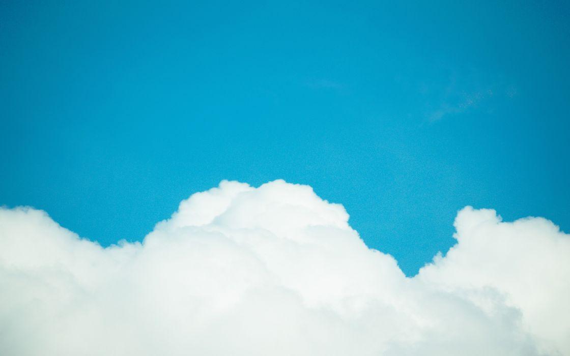 Clouds last hope blue skies wallpaper