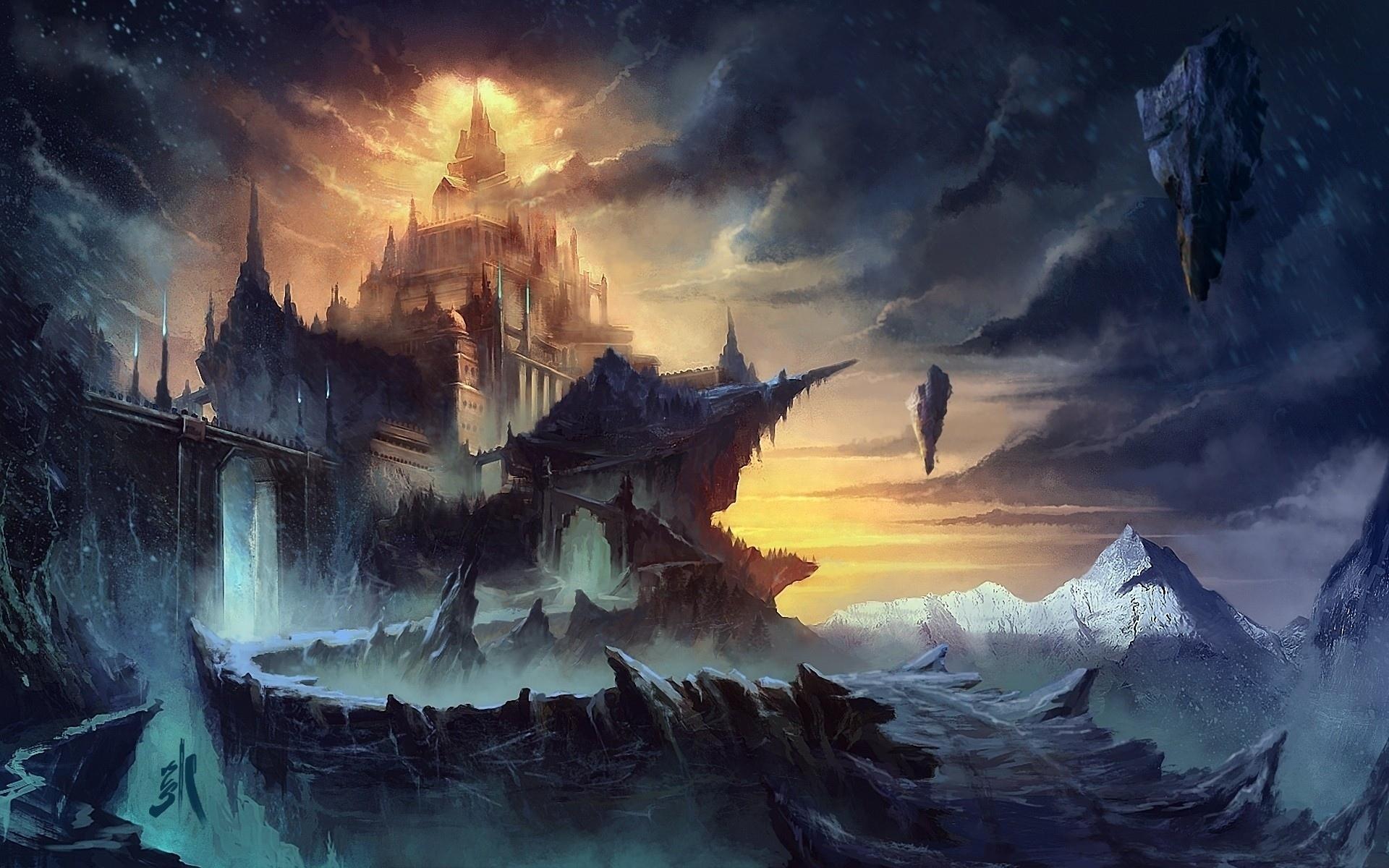 Sergey zabelin cghub com sergey zabelin zabelin fantasy cg for Architecture fantastique