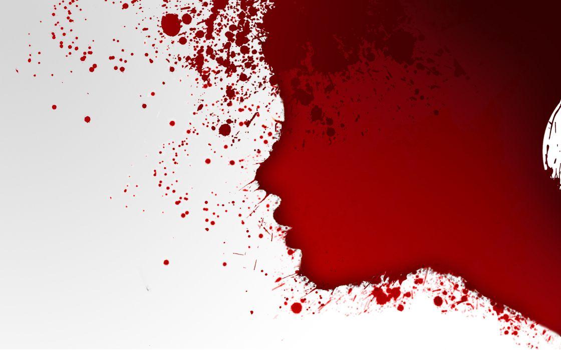dark horror creepy spooky macabre blood bloody women females girls red emo wallpaper