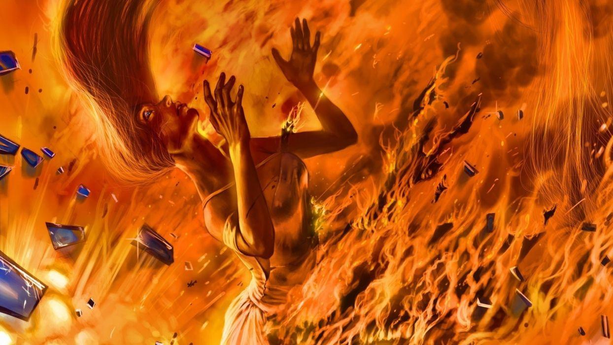 alexiuss_deviantart_com alexiuss comics fantasy sci-fi cg digital-art fire flames romanticallyapocalyptic_com romantically-apocalyptic apocalyptic wallpaper