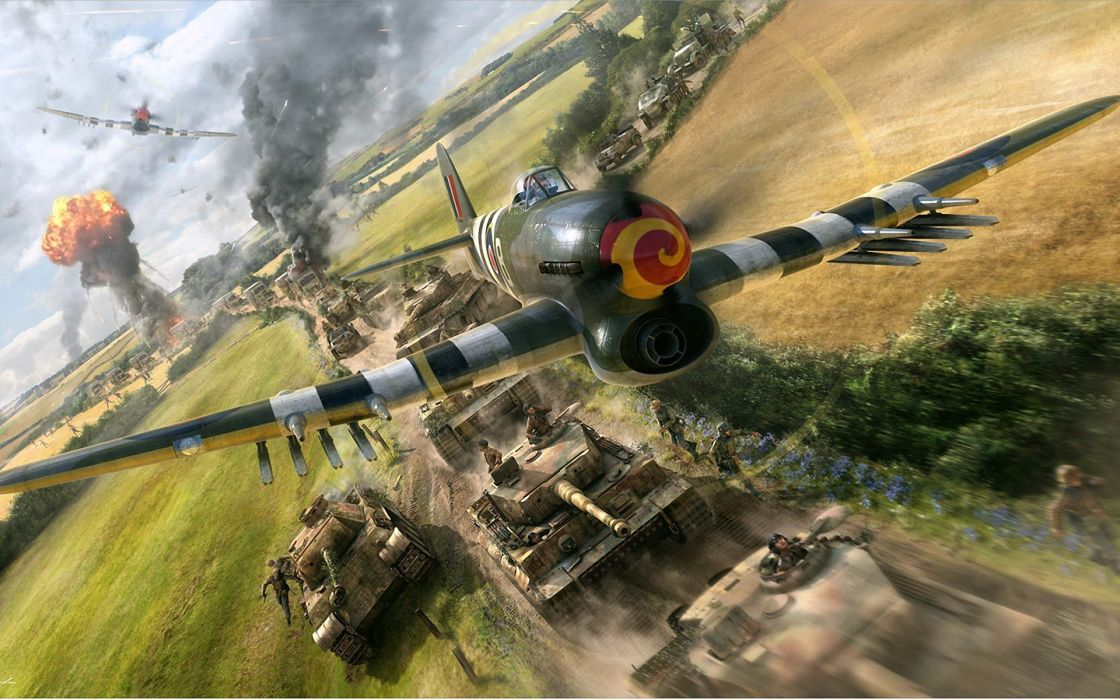 Gareth-Hector vehicles aircrafts airplanes tanks explosion battles war history wallpaper