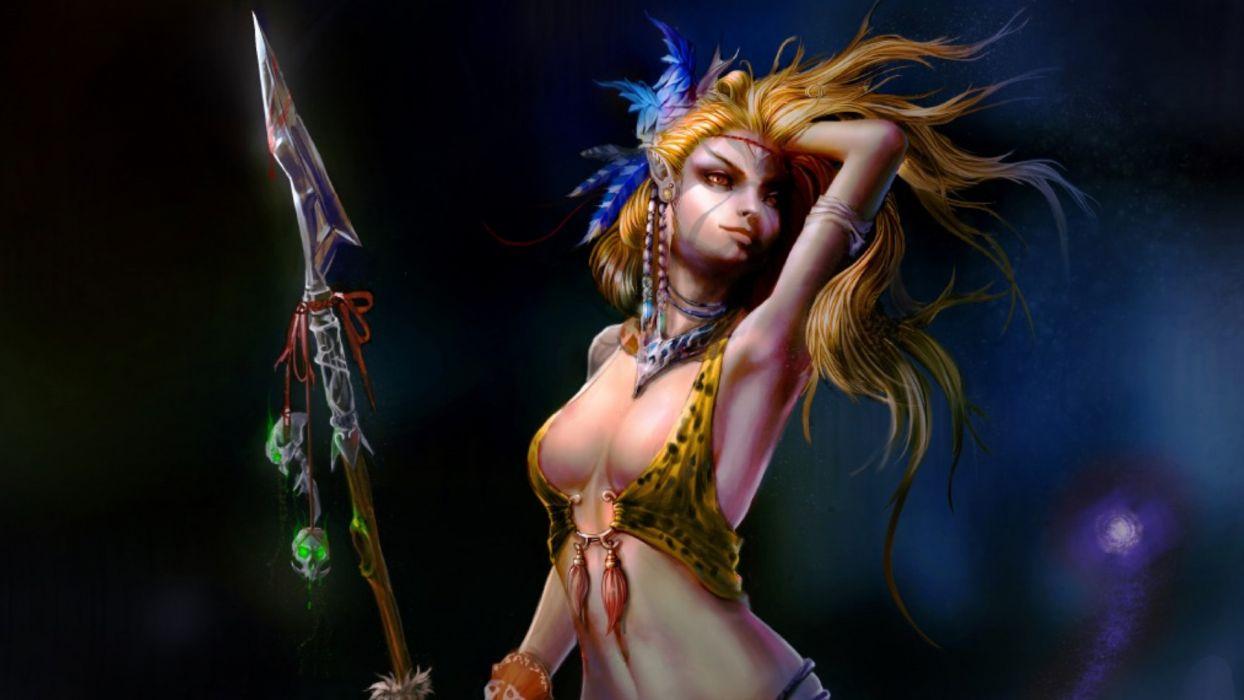 fantasy woman warrior female wallpaper