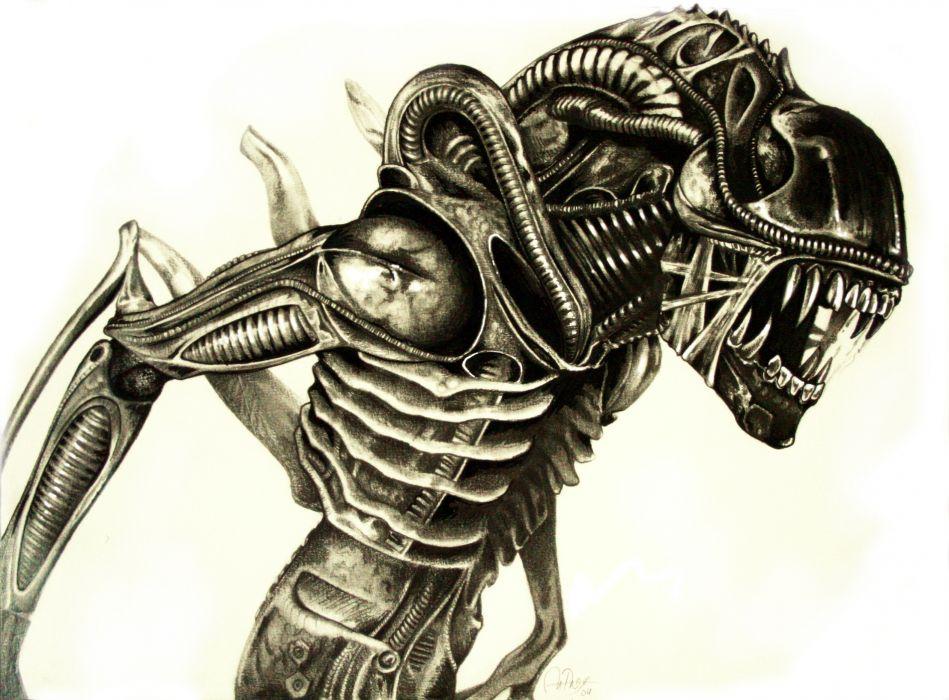 alien scifi wallpaper