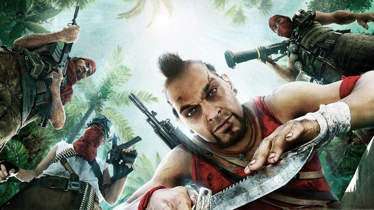 Far-cry far cry games video-games weapons guns rifles people men males wallpaper