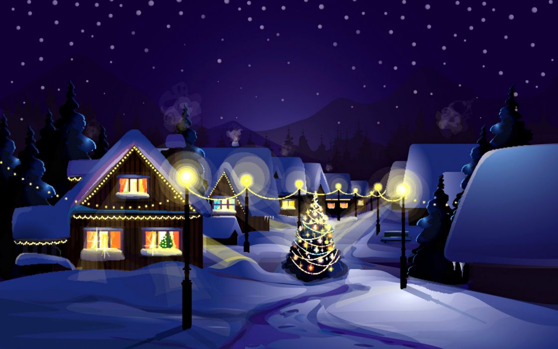 holidays christmas seasonal snow festive wallpaper