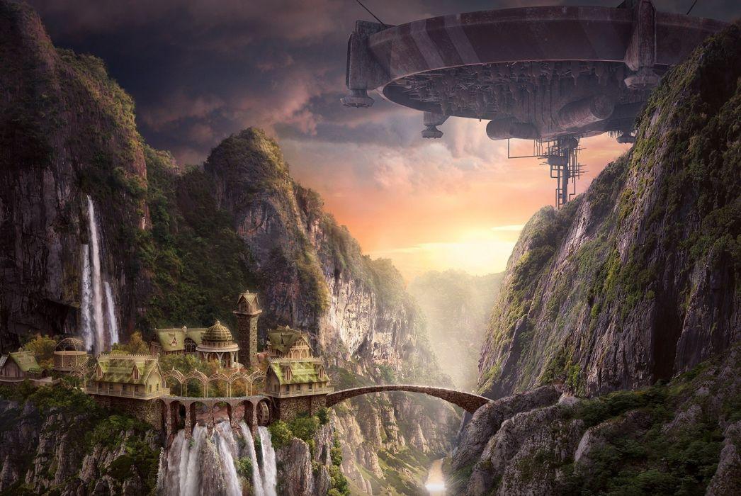 Akimfimin Deviantart Com Akim Fimin Collages Fantasy Sci Fi Cg Digital Art Paintings Landscapes Futuristic Cityies