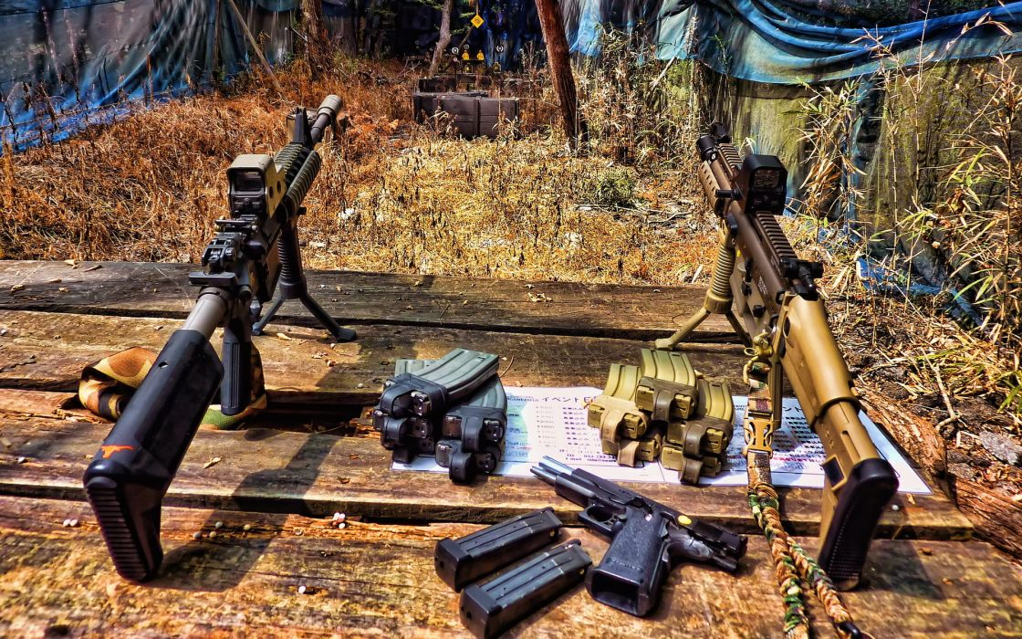 military weapons guns rifles machine-guns pistols ammunition wallpaper