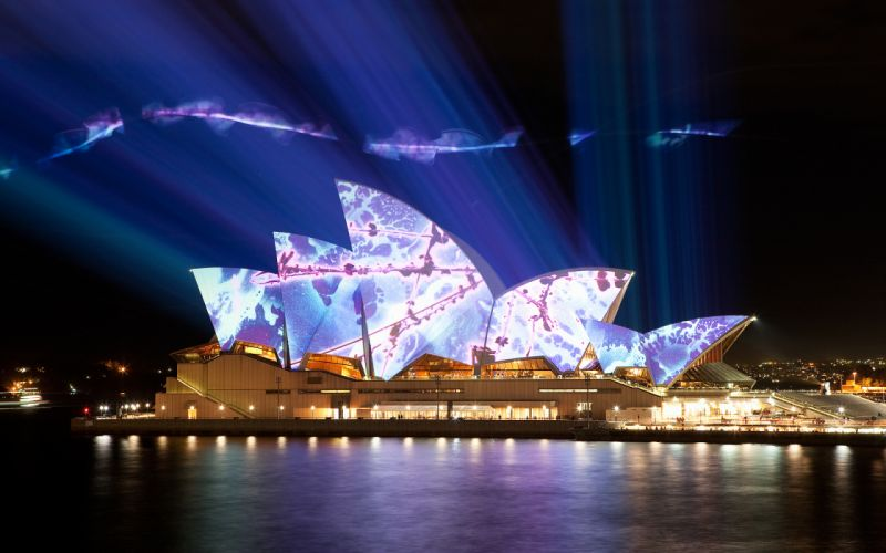 Australia Sydney sydney-opera-house opera architecture buildings manipulations photography psychedelic night lights cities hdr wallpaper