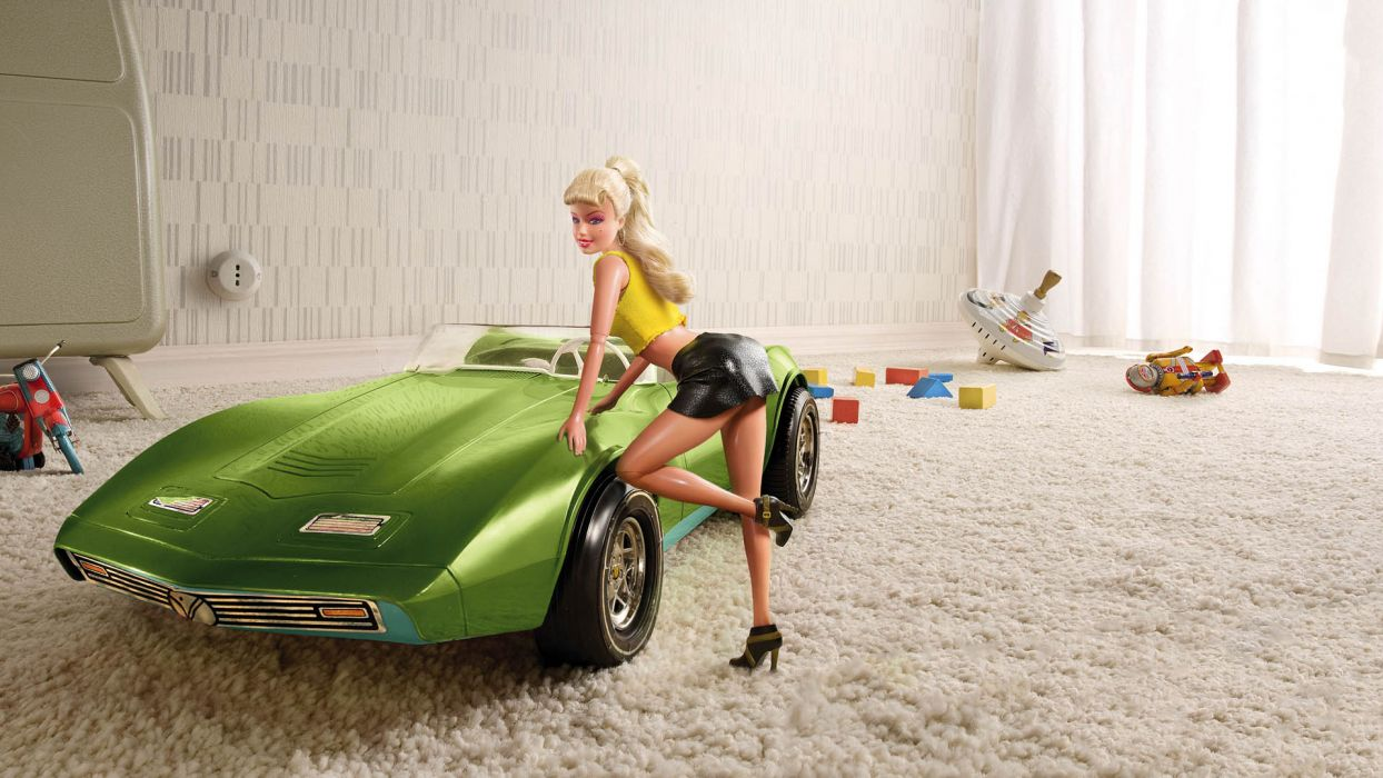 toys retro barbie chevys chevrolets corvettes humor funny style urban women females girls sexy sensual babes cute wallpaper