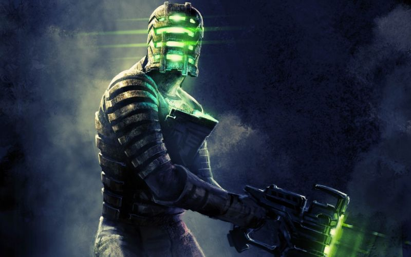 dead-space dead space games video-games sci-fi warriors soldiers weapons guns dark wallpaper