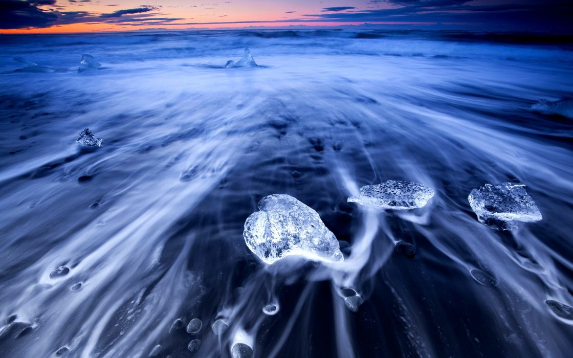 seascapes oceans ice timelapse hdr colors scenic skies clouds sunsets sunrises bright wallpaper