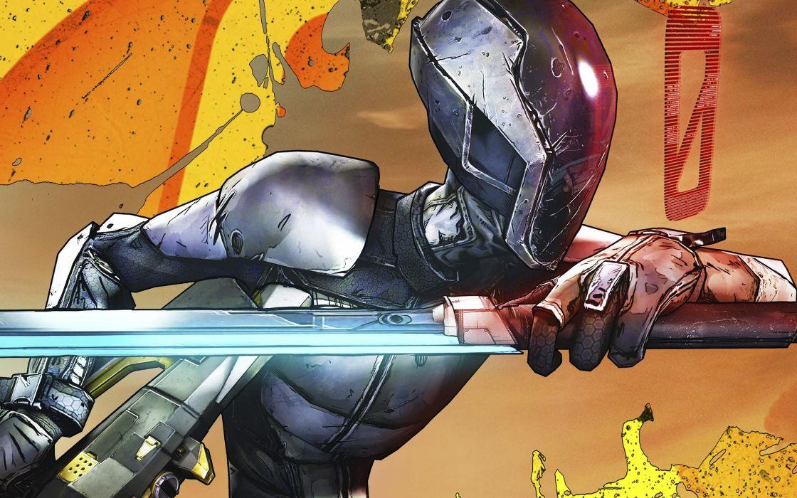 Borderlands Zero sword katana cyborgs robots weapons sword sci-fi wallpaper