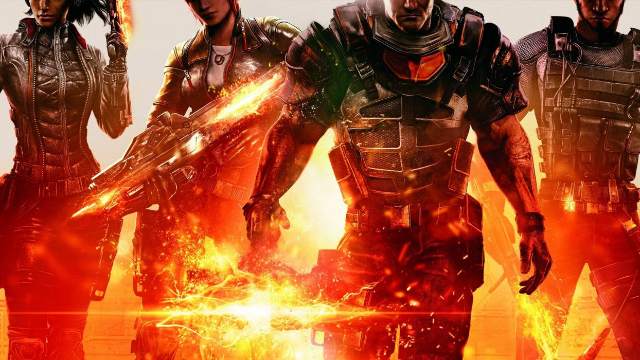 mass-effect effect warriors soldiers weapons sci-fi wallpaper