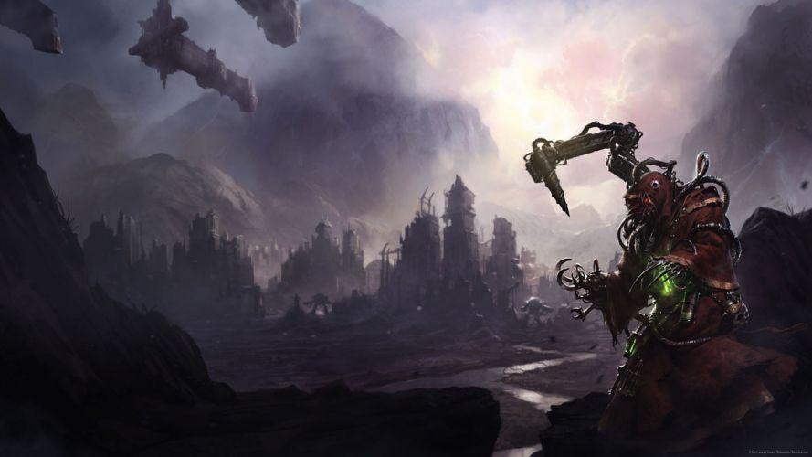 Priests-of-Mars books Graham-McNeill sci-fi robots landscapes dark mecha wallpaper