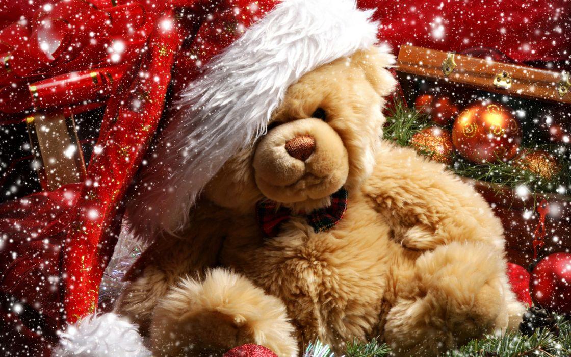 bear teddy-bears cute christmas holidays wallpaper