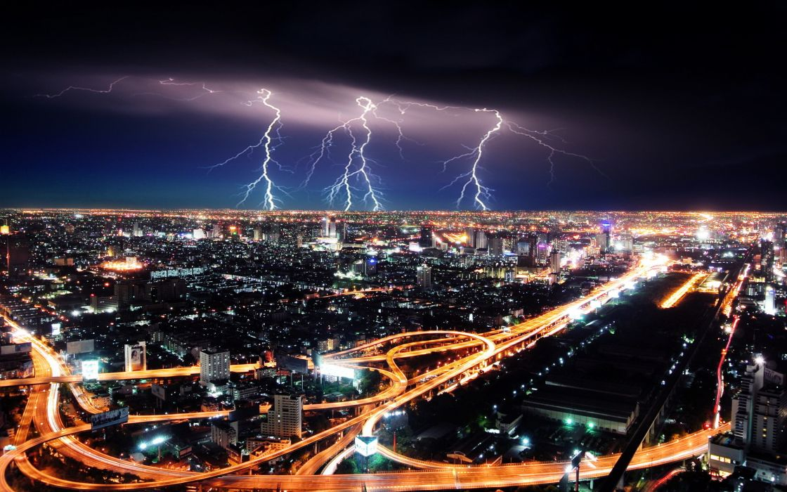 cityscapes cities architecture buildings hdr roads lights night lightning wallpaper