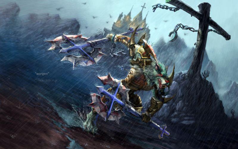 World of Warcraft WoW Worgen wallpaper