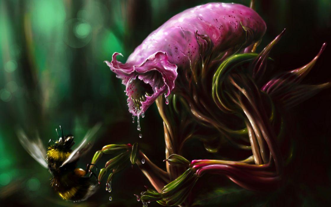 fantasy sci-fi aliens cg digital-art paintings dark creepy spooky wallpaper