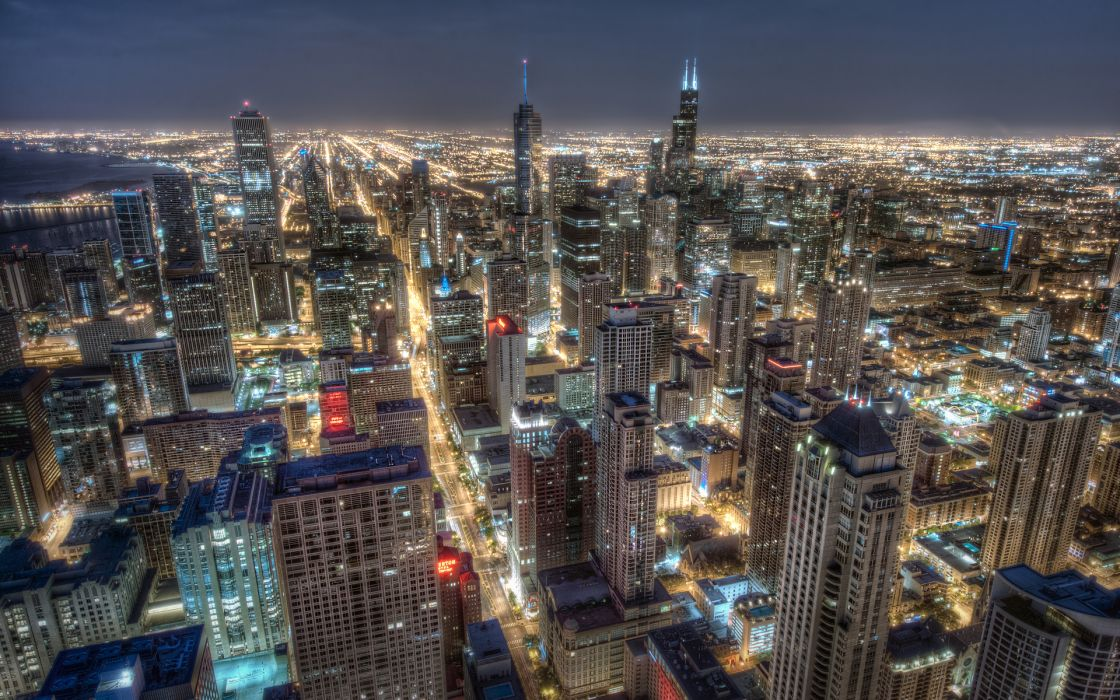 Chicago Illinois cities architecture buildings hdr wallpaper