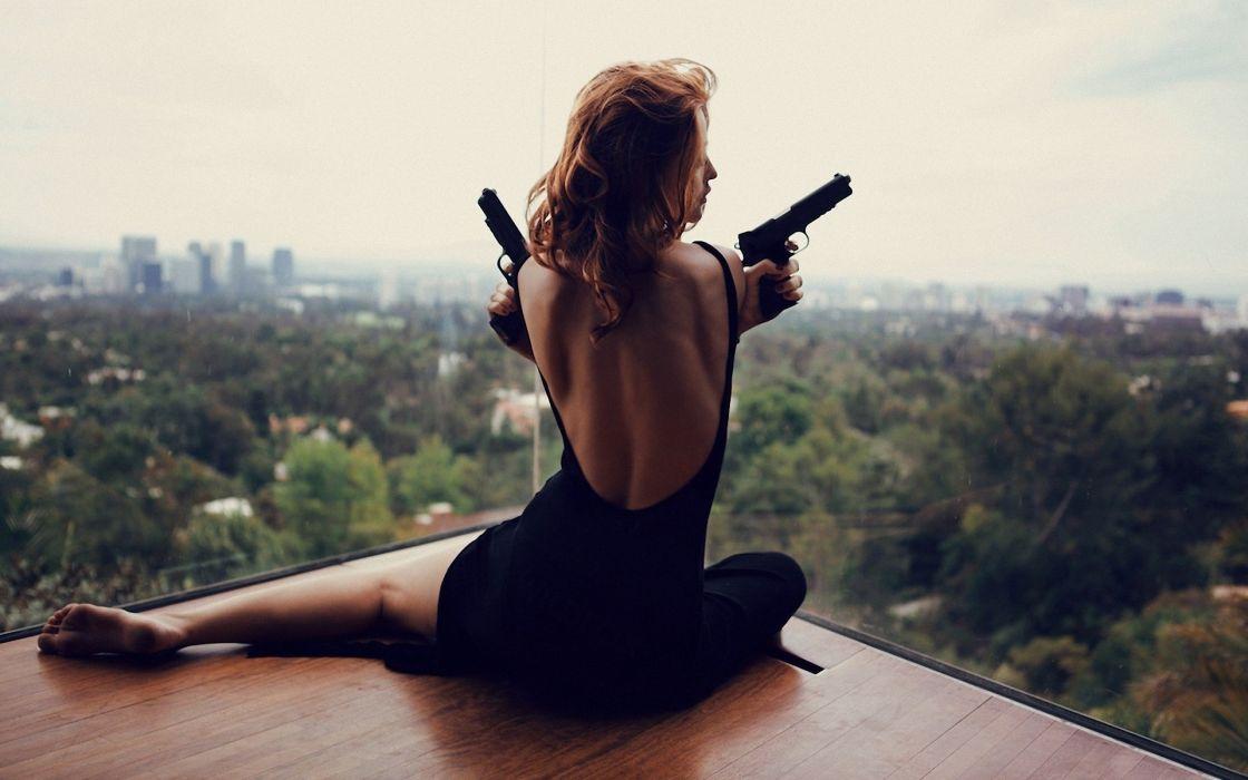 Cintia-Dicker Cintia Dicker women females girls babes sexy sensual weapons guns mood models style wallpaper