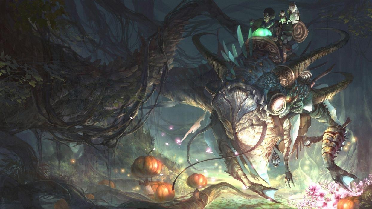 games video-games fantasy creatures monsters dark wallpaper