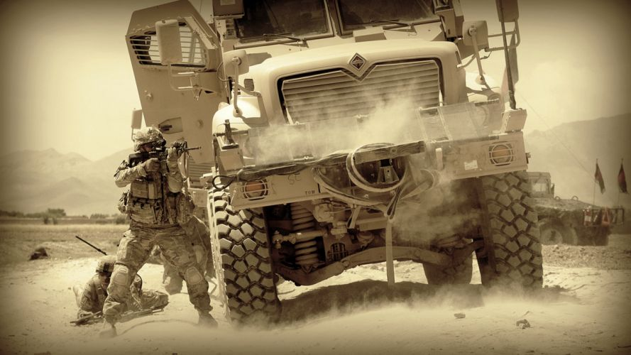 military soldiers mood warriors war battle trucks people wallpaper