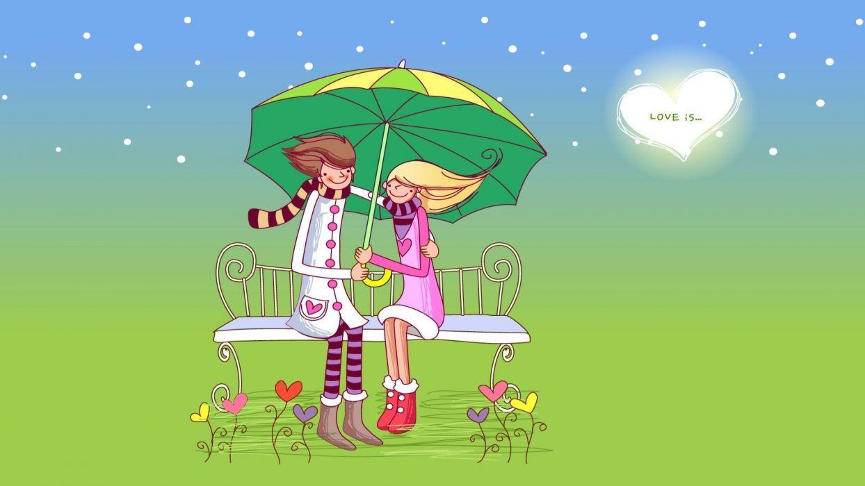 love romance couple artistic cute wallpaper