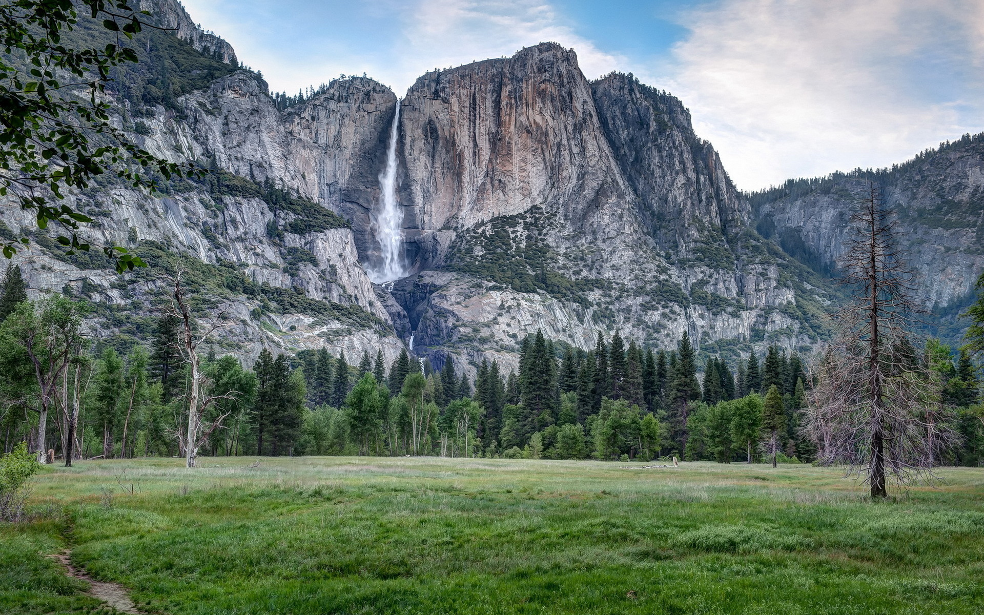 Nature landscapes cliff waterfalls mountains trees forest ...