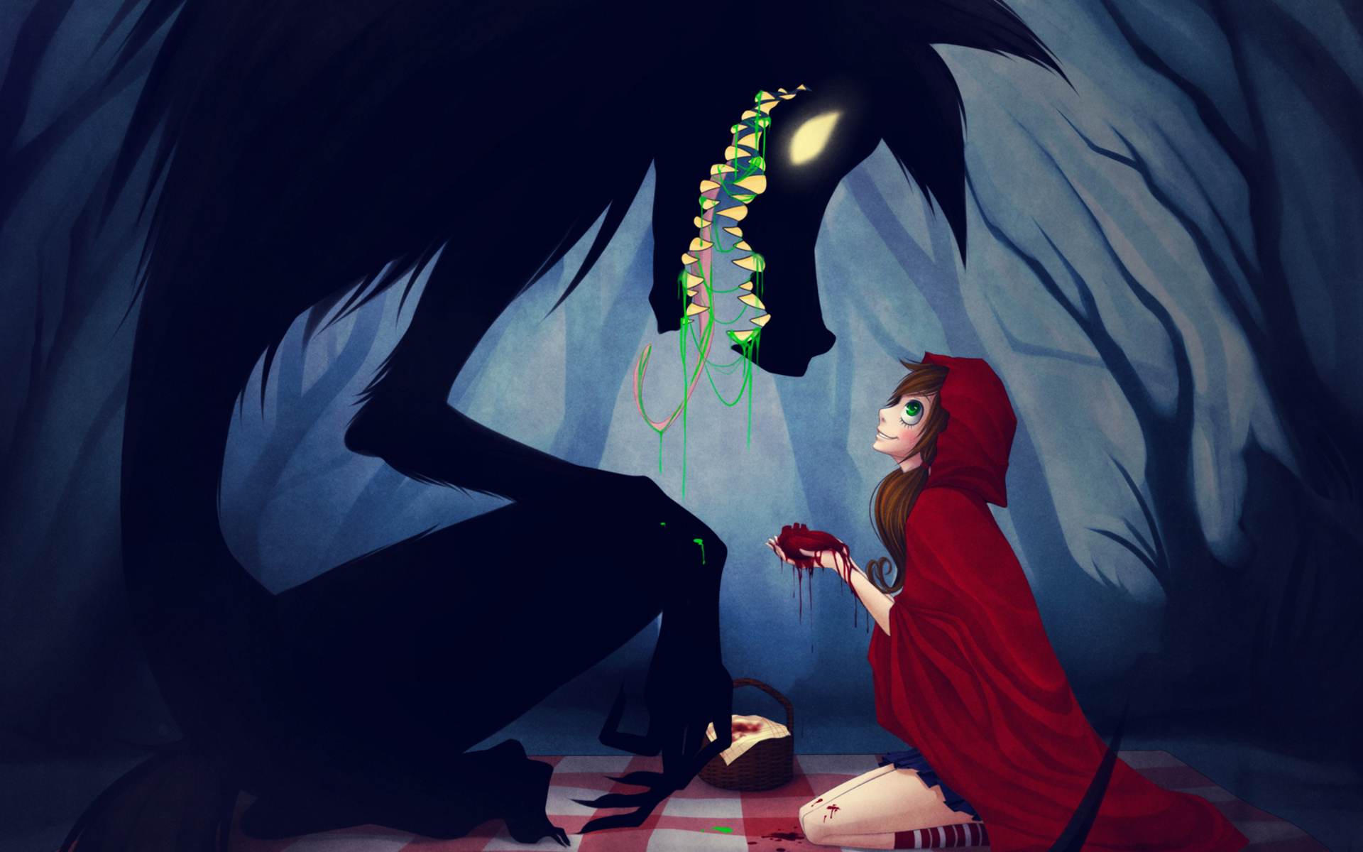 Anime Red Riding Hood Wolf Love on manlio argueta