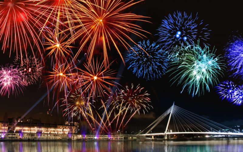 festive celebration fireworks colors wallpaper