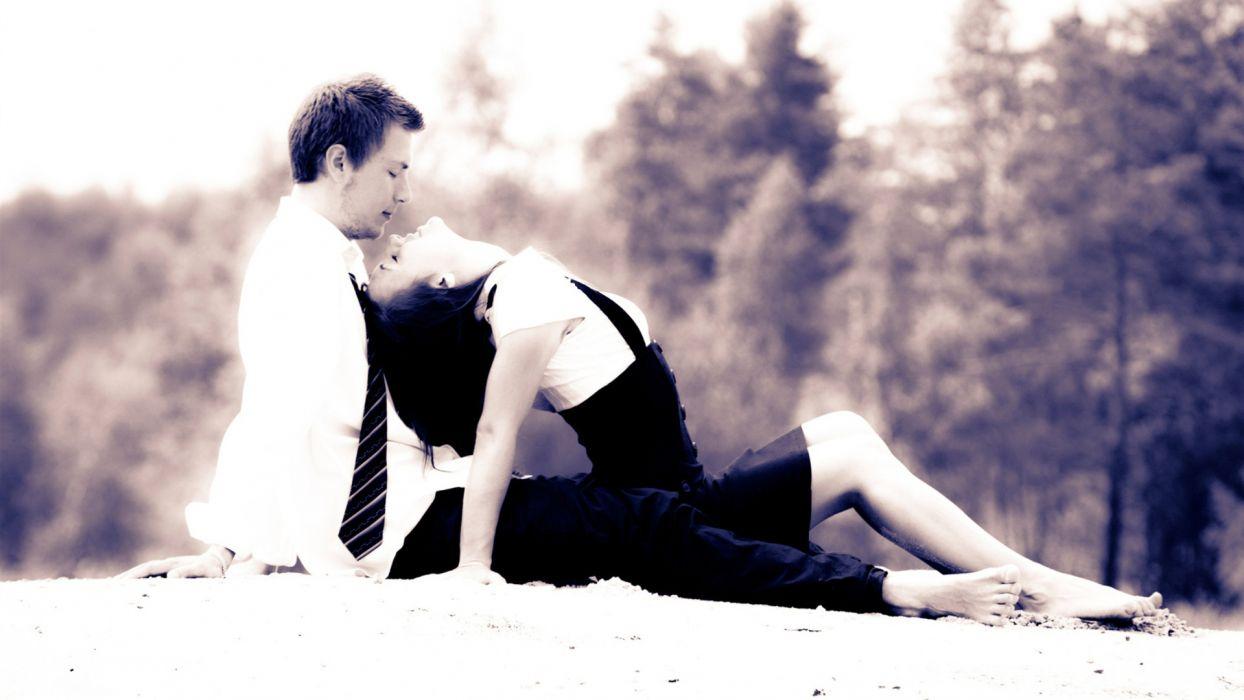 black white b/w black-and-white love romance couple people men women wallpaper