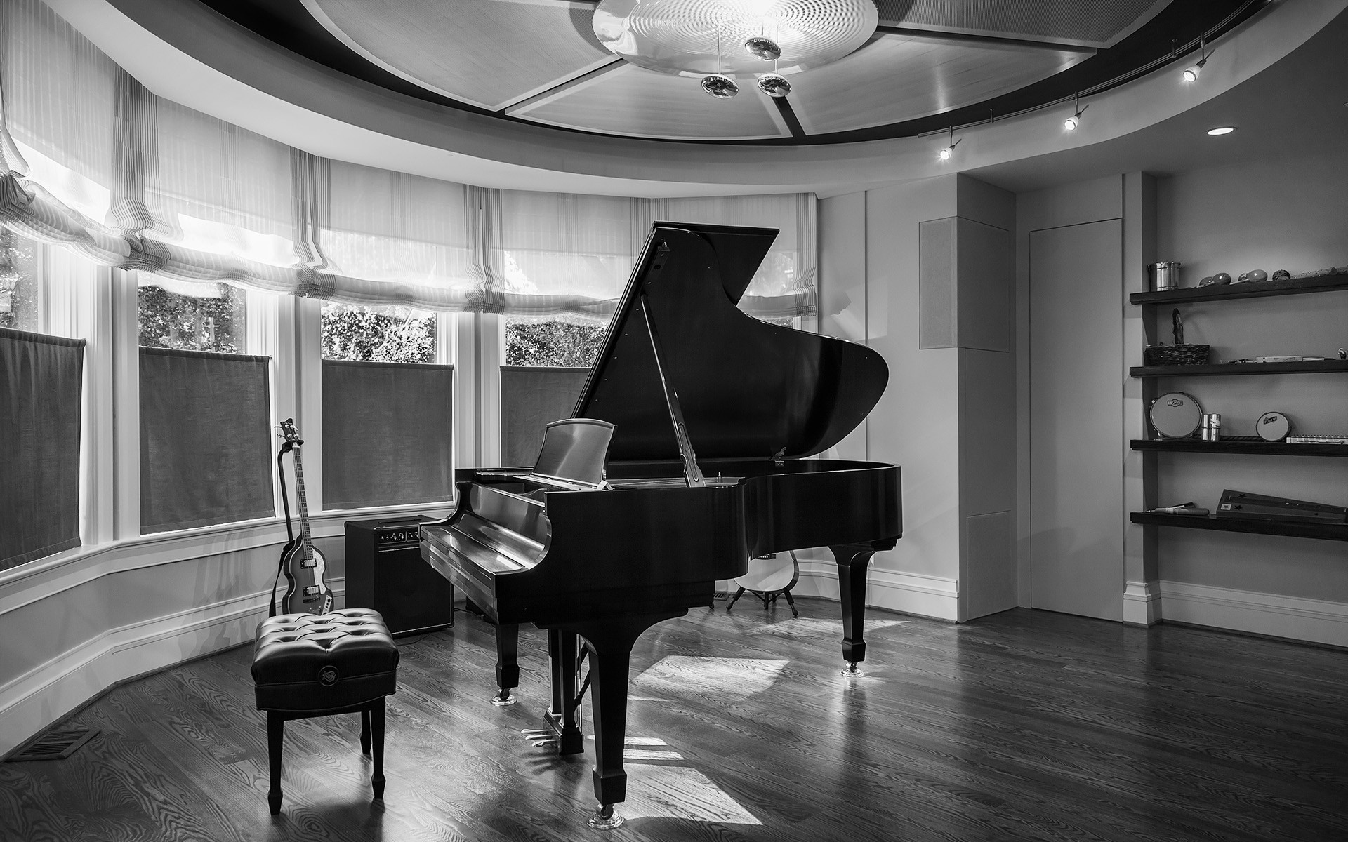 Black and White Piano
