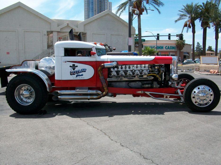 Peterbilt vehicles trucks custom hot-rod engines rat-rod wallpaper