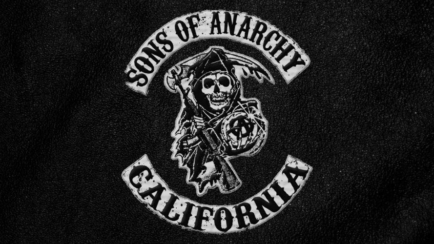 sons-of-anarchy anarchy bikers motorcycles skulls dark wallpaper