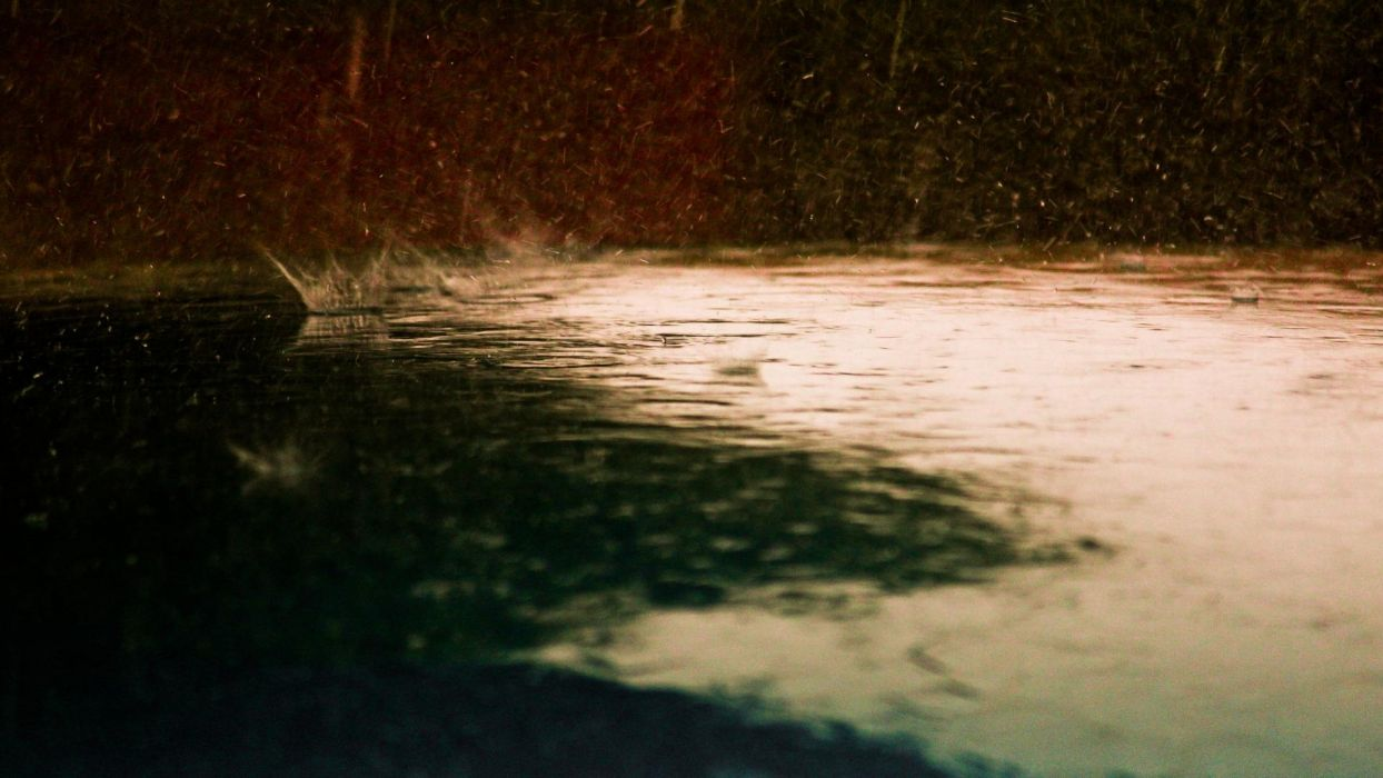 nature storm rain puddle water photography wallpaper