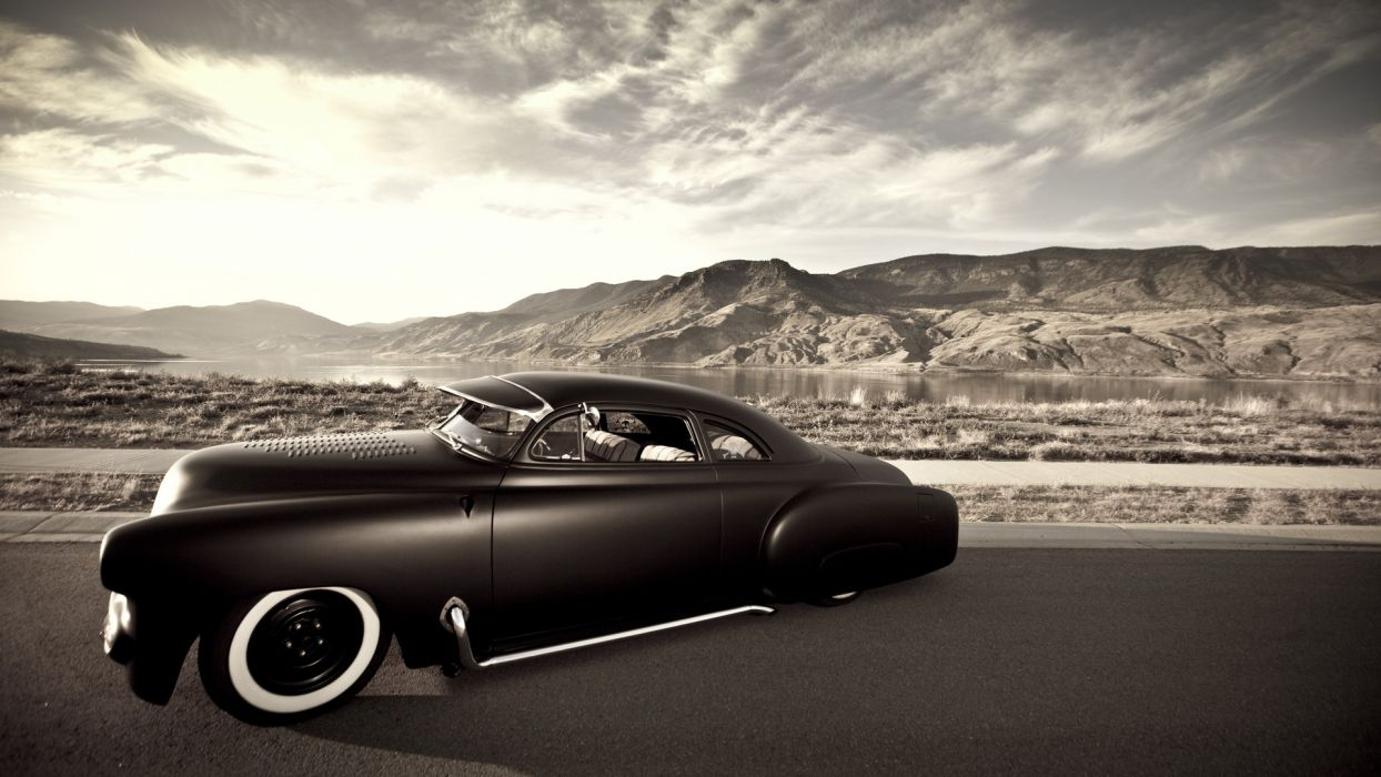 vehicles cars rat-rod hot-rod custom lowrider sepia wallpaper