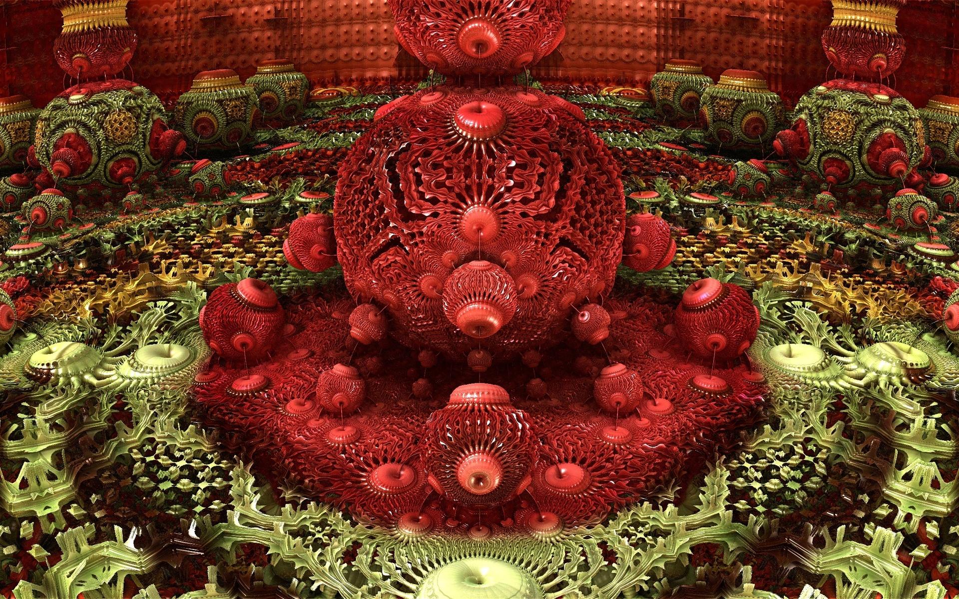 Abstract Fractal 3d Cg Digital Art Colors Contrast