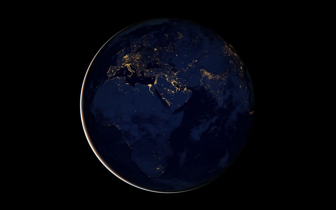 sci-fi space planets earth from-space landscapes land ocean lights population world photography nasa wallpaper