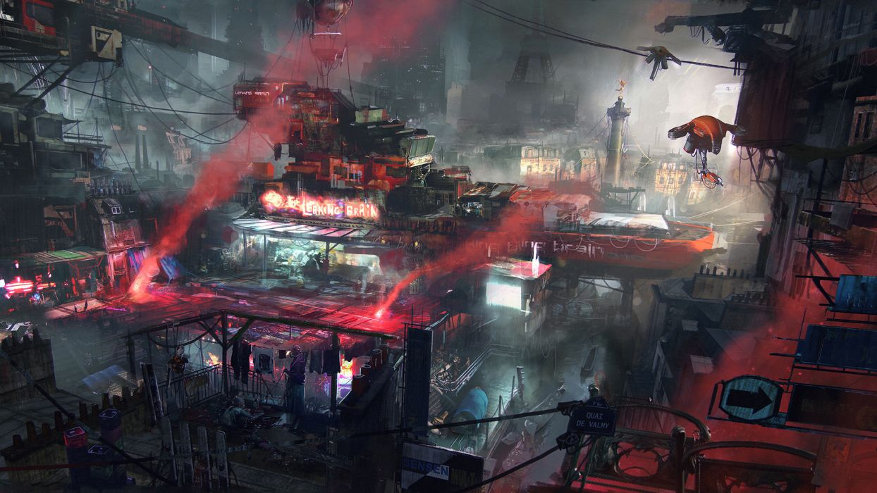 Remember-Me games video-games futuristic cities dark mech colors cg digital-art sci-fi artistic paintings wallpaper