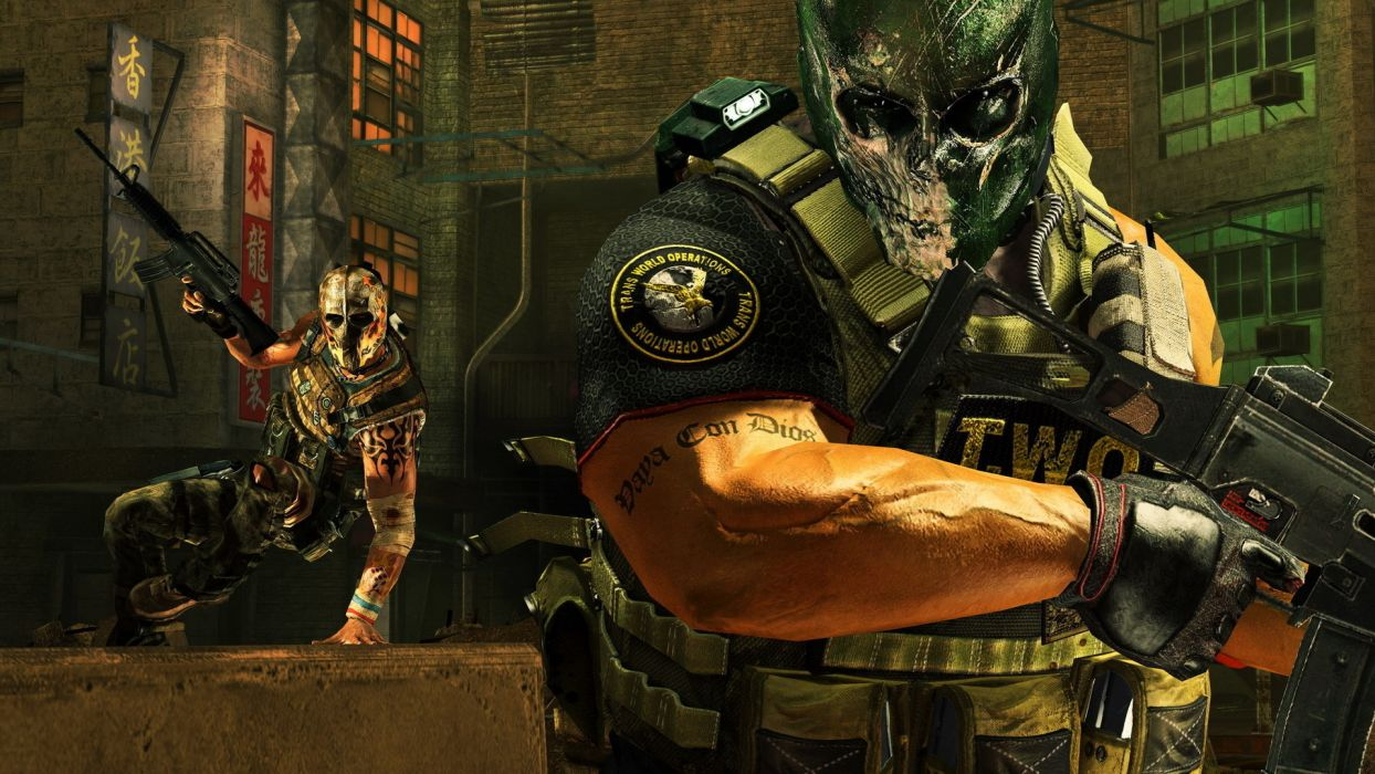 army-of-two games video-games warriors soldiers weapons guns mask anarchy war wallpaper