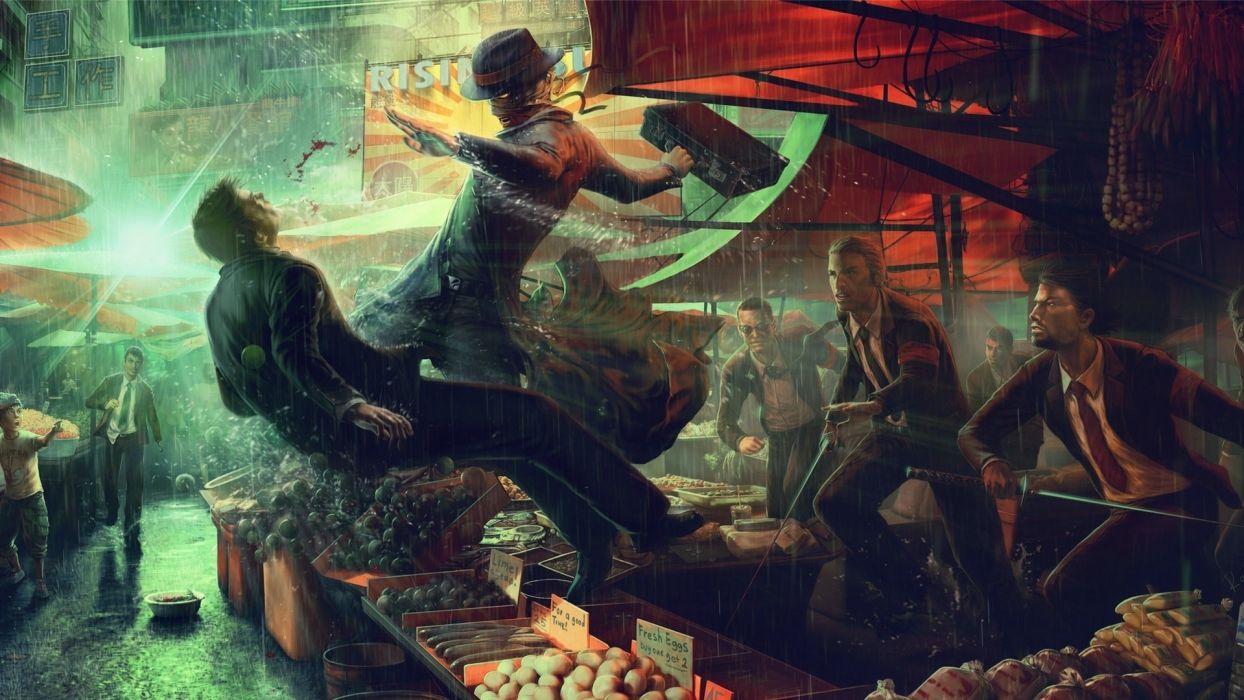 Randis-Albion Albion sci-fi action adventure palces people men males violence fighting blood futuristic cg digital-art paintings wallpaper