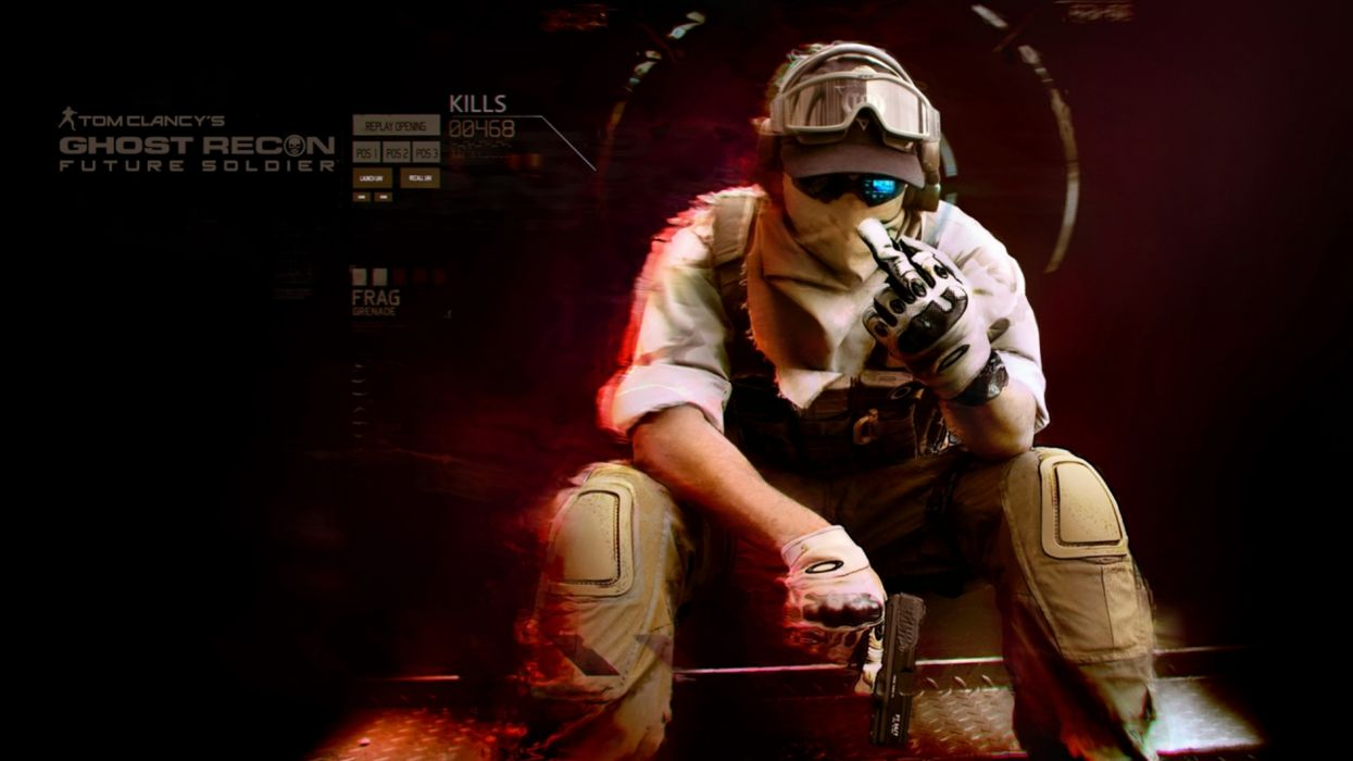 ghost-recon recon warriors soldiers military clancy weapons guns pistols sadic humor mask war wallpaper