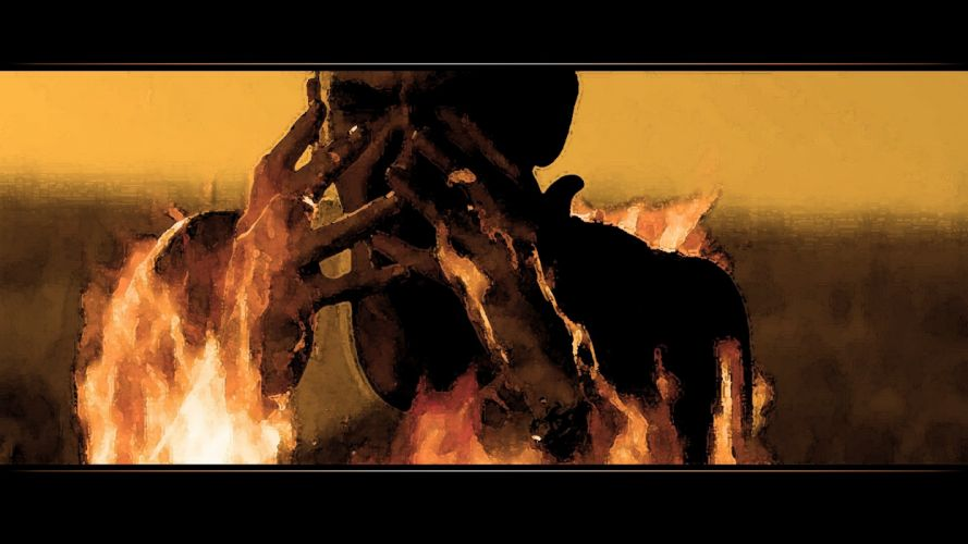 music eminem rap dark fire flames horror macabre fire flames wallpaper